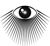 All seeing eye. With rays of light Stock Photos