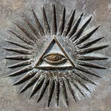 All Seeing Eye. Sing symbol royalty free stock photo