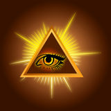 All-seeing eye - Stock Illustration Royalty Free Stock Images