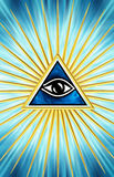 All Seeing Eye - eye of providence. All Seeing Eye - symbol omniscience Royalty Free Stock Photography