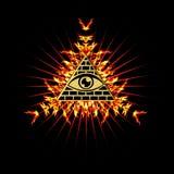 All Seeing Eye - eye of providence. All Seeing Eye - symbol omniscience vector illustration