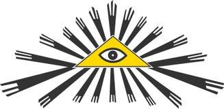 All seeing eye symbol, vector illustration Stock Photos