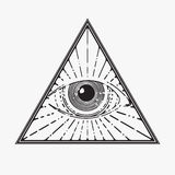 All seeing eye symbol Stock Images