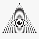 All seeing eye symbol Royalty Free Stock Images