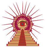 All seeing eye. Vector Illustration Royalty Free Stock Image