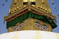 All seeing eyes of Buddha Royalty Free Stock Image