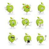 All set Apple Logo mascot Royalty Free Stock Image