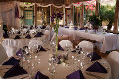 All set for guest. A room is all ready for guest after the wedding Royalty Free Stock Image