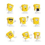 All set Sponge mascot and background. With flat design style for your mascot branding royalty free illustration
