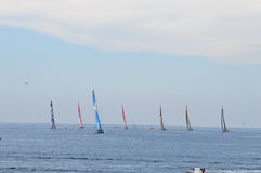 All Seven Boats In The Volvo Ocean Race Royalty Free Stock Photos