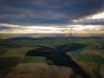 Drone Nature Germany Sunset Colors royalty free stock images