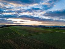Drone Nature Germany Sunset Colors royalty free stock photos