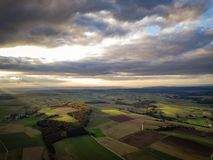Drone Nature Germany Sunset Colors royalty free stock photo