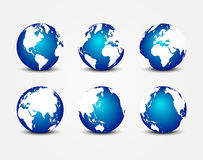 All side of blue planet ( around the world ) ( earth conservation concept ) Stock Photo