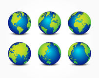 All side of planet ( around the world  earth conservation concept Royalty Free Stock Image