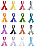 All Silhouette Awareness Ribbons Royalty Free Stock Image