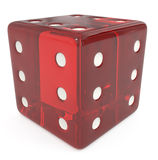 All Six Red dice isolated on white Royalty Free Stock Photo