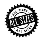 All Sizes rubber stamp. Grunge design with dust scratches. Effects can be easily removed for a clean, crisp look. Color is easily changed Royalty Free Stock Image