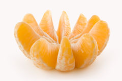 All slices of a tangerine. A fresh & healthy circle Royalty Free Stock Photo
