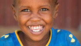 All smiles. Lughaye fishing village in Somaliland royalty free stock photo