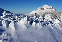 All is snow. Toaca peak from Romanian Carpathians Stock Image