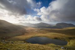 All of Snowdonia. Snowdonia from mount Snowdon, UK Royalty Free Stock Photography