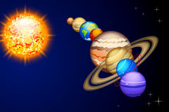 All solar system Stock Photography