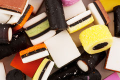 All sort licorice Stock Images