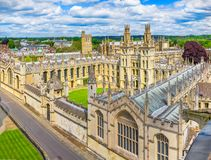 All Soul College, Oxford University. All Souls College, Oxford is a constituent college of the University of Oxford in England Royalty Free Stock Photography