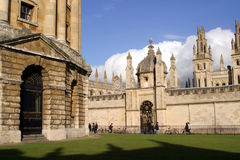 All Soul's College. Oxford Stock Photo