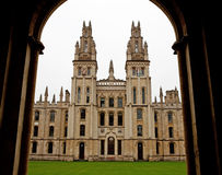 All Souls College 1438. One from the many colleges in Oxford Stock Image