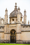 All Souls College entrance gate. Oxford, UK. All Souls College gateway with ornate iron gate. Oxford, Oxfordshire, England Stock Photo