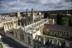 All Souls College, Oxford. England, viewed from above Royalty Free Stock Images
