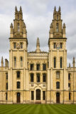 All Souls College - Oxford - England. All Souls College - a part of Oxford University in Oxford in England in the United Kingdom Royalty Free Stock Photos