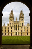 All Souls College - Oxford - England. All Souls College is a part of Oxford University in the city of Oxford in Oxfordshire in south east England in the United Royalty Free Stock Photos