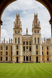 All Souls College, Oxford, UK. View through the arch Stock Photos