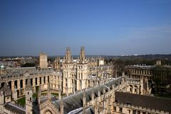 All Souls College Oxford University 2. All Souls College Oxford University ariel photograph Royalty Free Stock Image