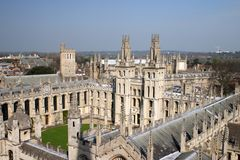All Souls College Oxford University 3. All Souls College Oxford University ariel photograph Royalty Free Stock Photo