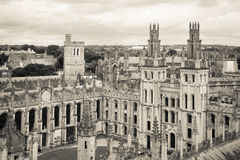 All Souls College, Oxford University, Oxford, UK. Black and whit Stock Photography
