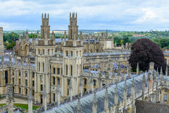 All Souls College, Oxford University, Oxford, UK. Horizontal vie Stock Photography