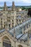 All Souls College, Oxford University, Oxford, UK. Vertical view Stock Image