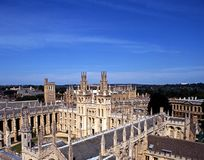 All Souls College, Oxford. All Souls College The Warden and the College of the Souls of all Faithful People deceased in the University of Oxford, Oxford Royalty Free Stock Images