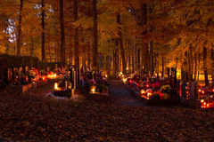 All souls day at cemetery Royalty Free Stock Photo