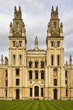 All Soulshögskola - Oxford - England Royaltyfria Foton