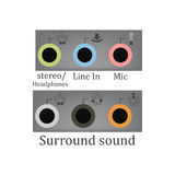 All sound input output Stock Photos