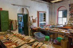 The All Spice Market, a womens co- operative. In Fort Cochin, Kerela, India.. Fort Kochi, India - 16th November 2017: The All Spice Market, a womens co royalty free stock photos