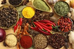 All spices. Ingredients in cooking dhaka, Bangladesh Royalty Free Stock Images