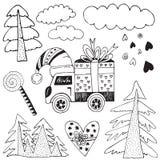 all stängd jul redigerar delmöjlighet för illustration eps8 till vektorn Royaltyfri Bild