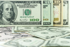 All stack type of american dollars on many dollars background Stock Image
