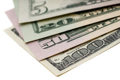 All stack type of american dollars Stock Image